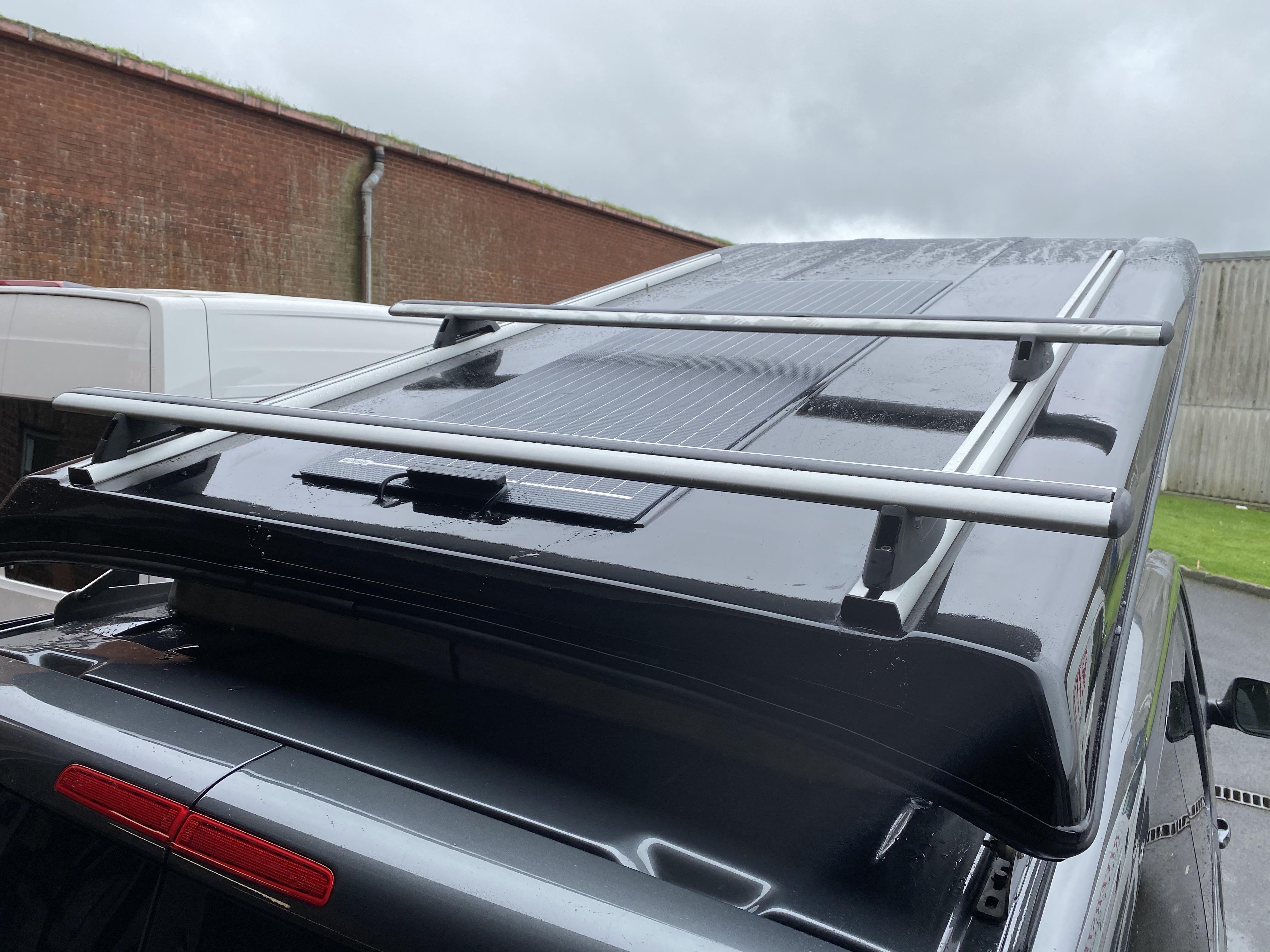 roof rack on a campervan conversion