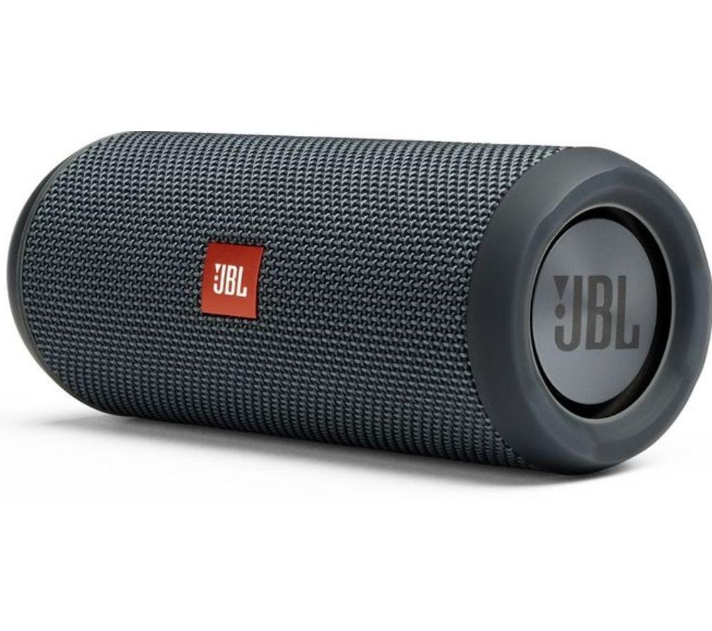 JBL black speaker for camping