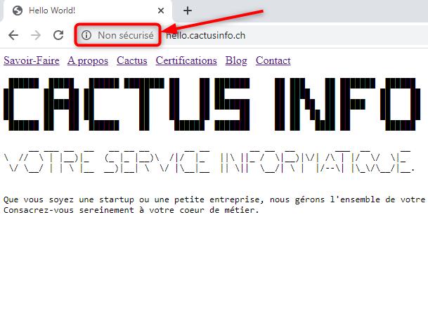 Site web sans certificat