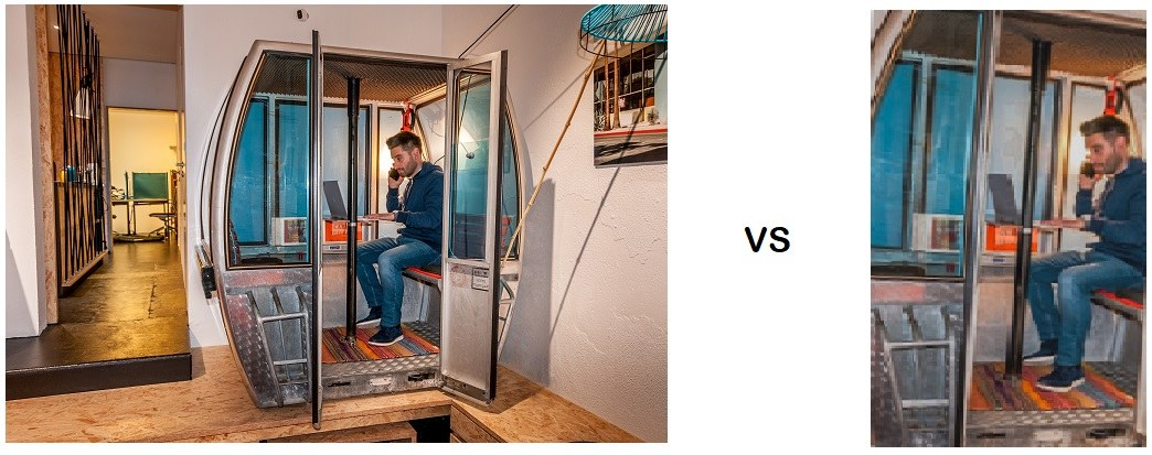 belle photo vs photo pixelisée