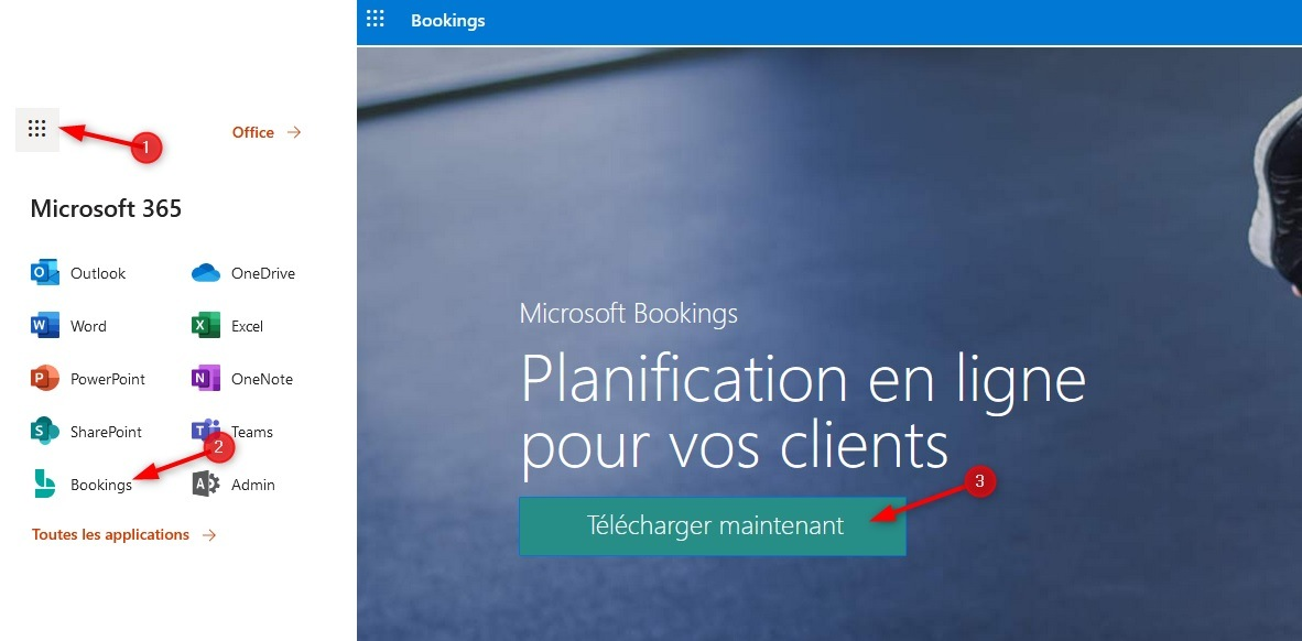 Installer Microsoft Bookings