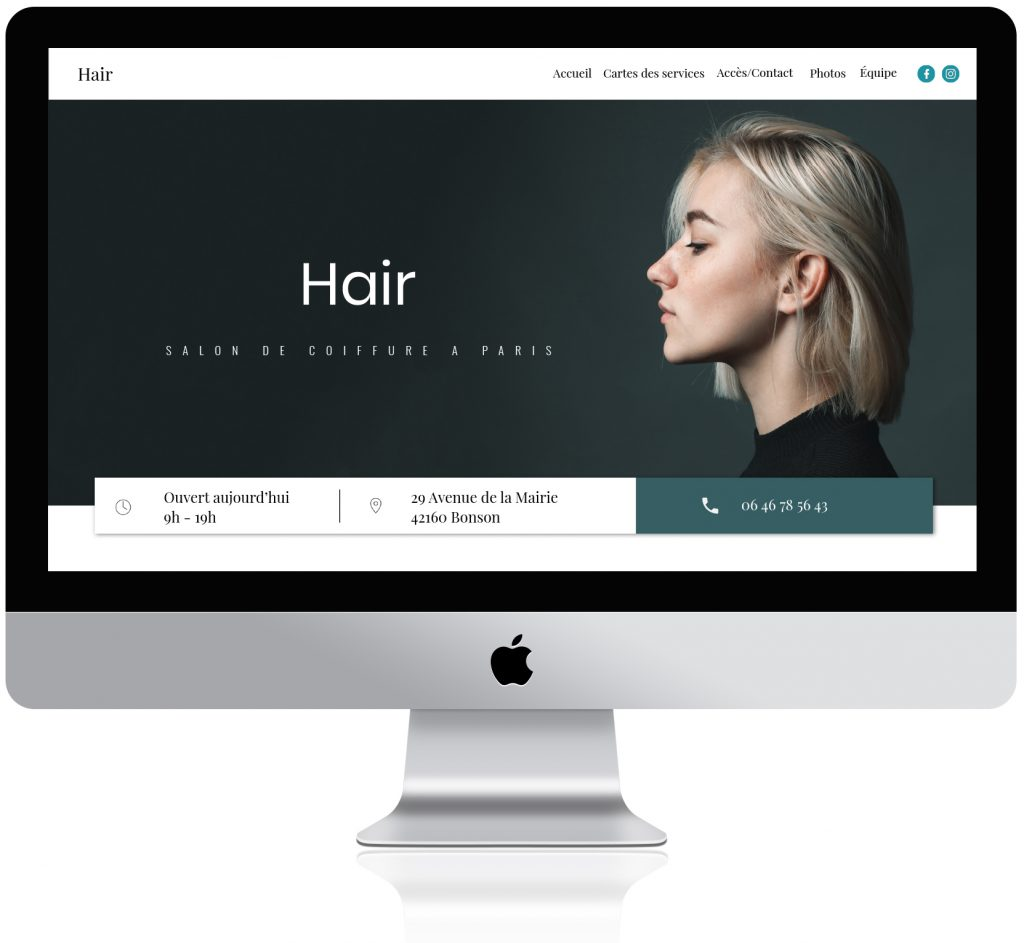 A personalized website for hair salons
