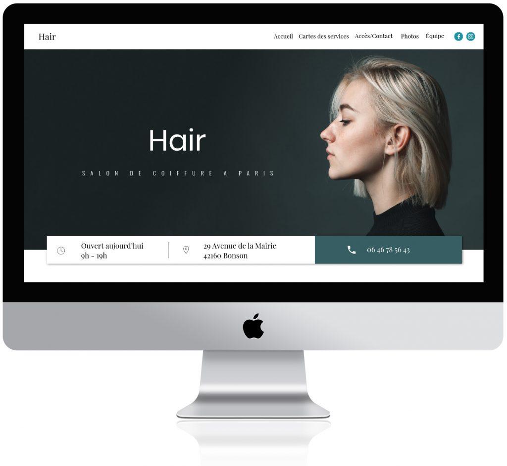 Un site web personnalisé pour les salon de coiffure