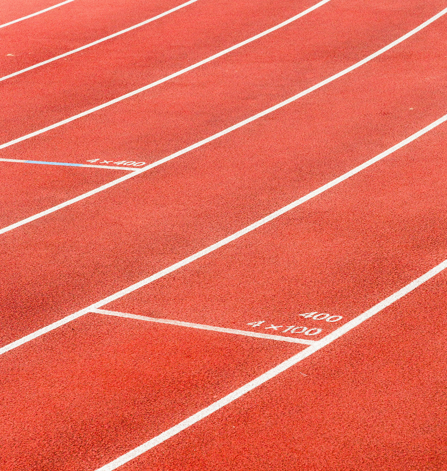 Starting lines from a running track.