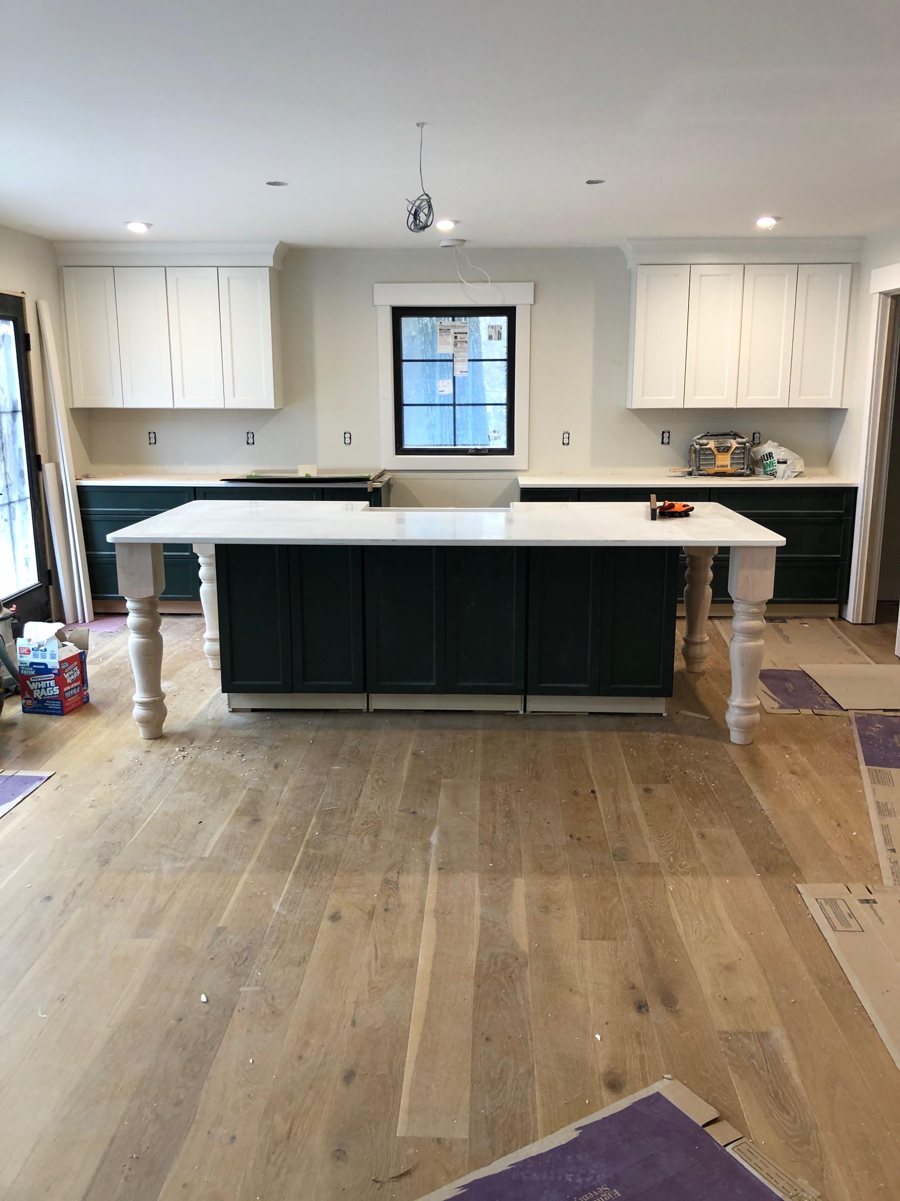 Elevation kitchen under construction at 2019 Laurence Court