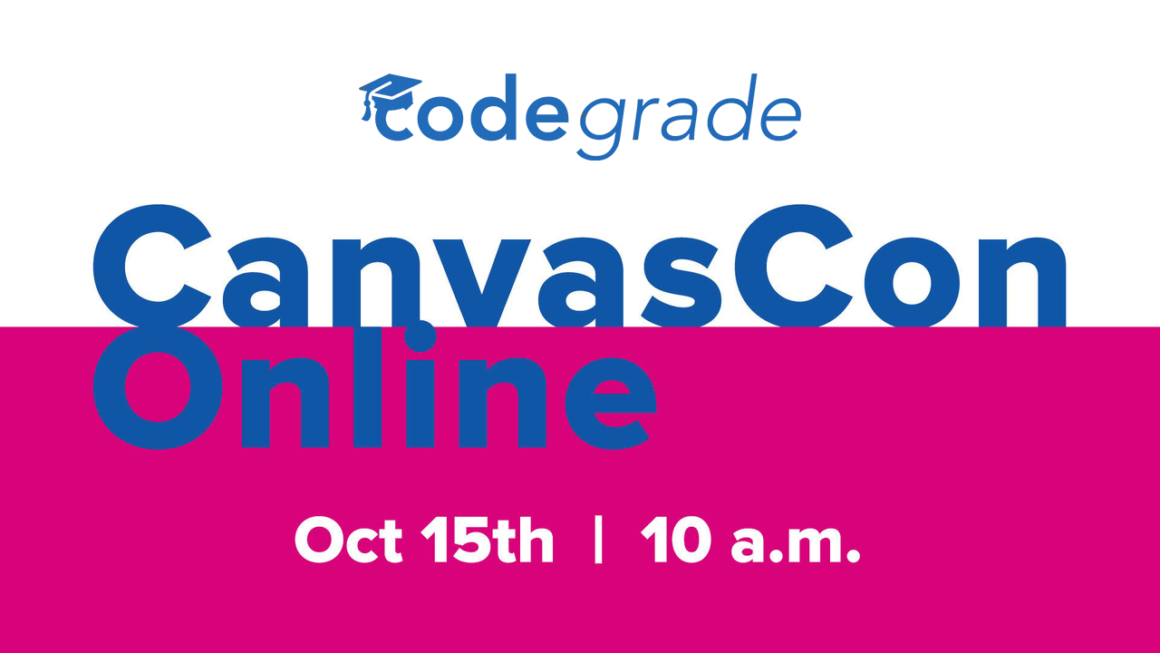 CodeGrade at CanvasCon 2020!