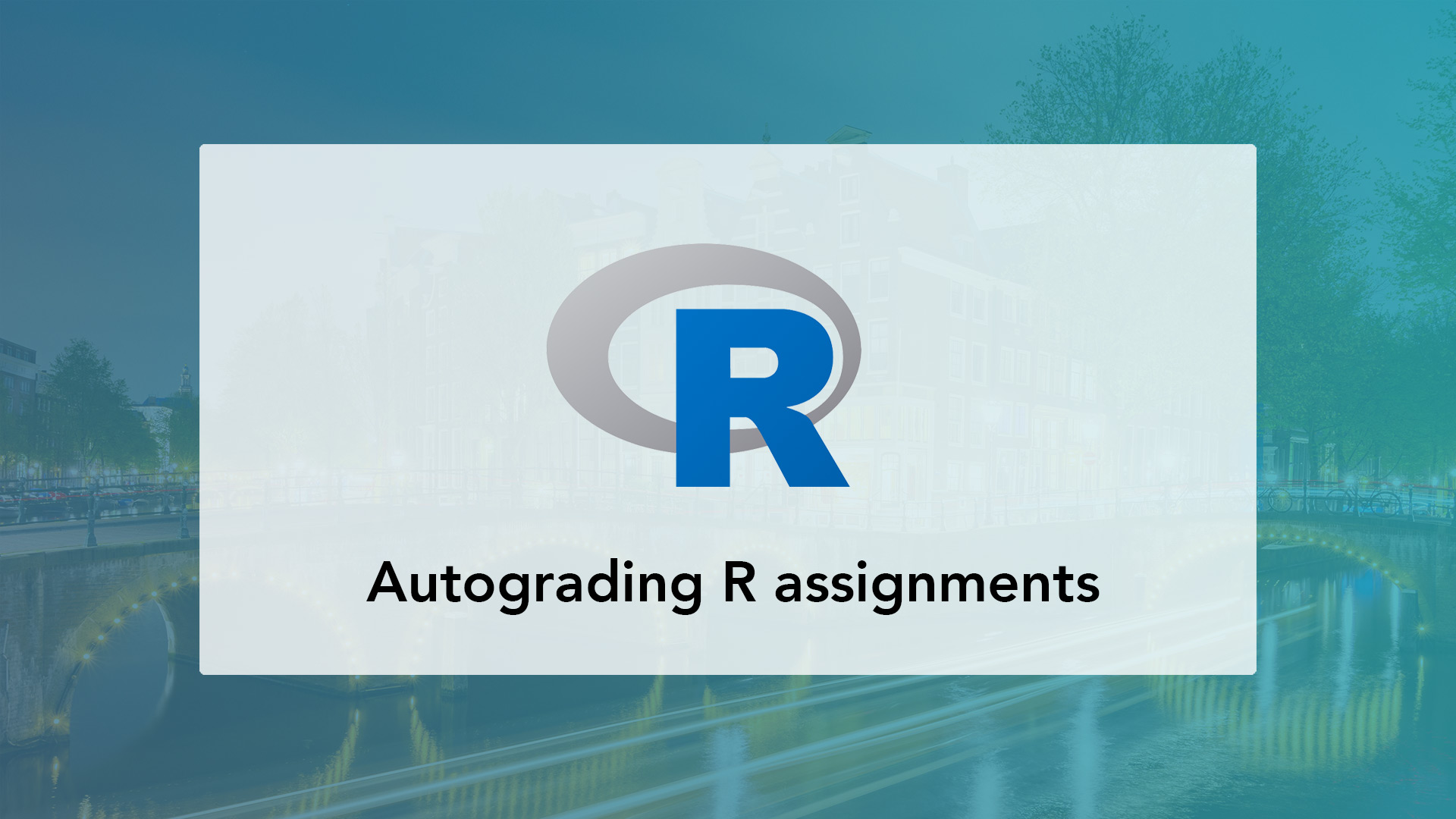 Autograder for R scripts and data science assignments