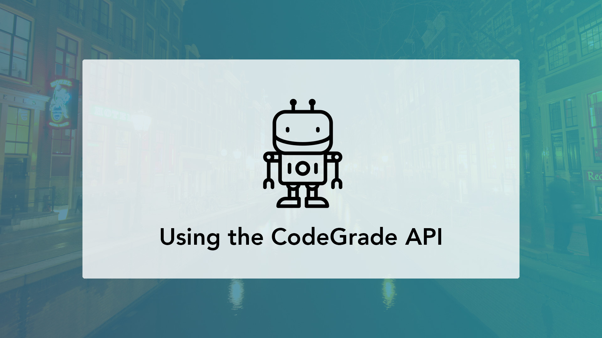 CodeGrade API for autograding and plagiarism detection