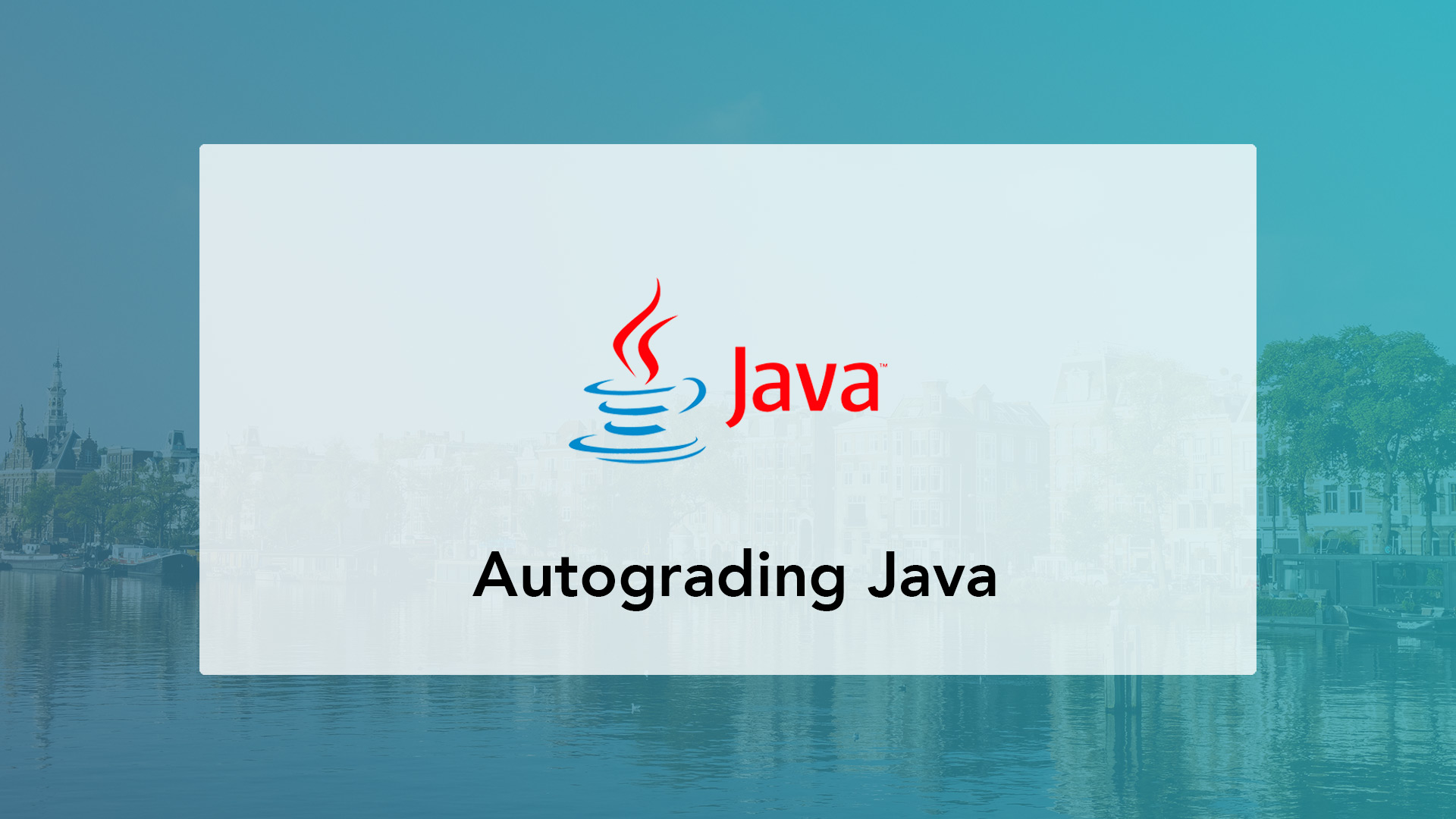 Autograding Java code for computer science assignments