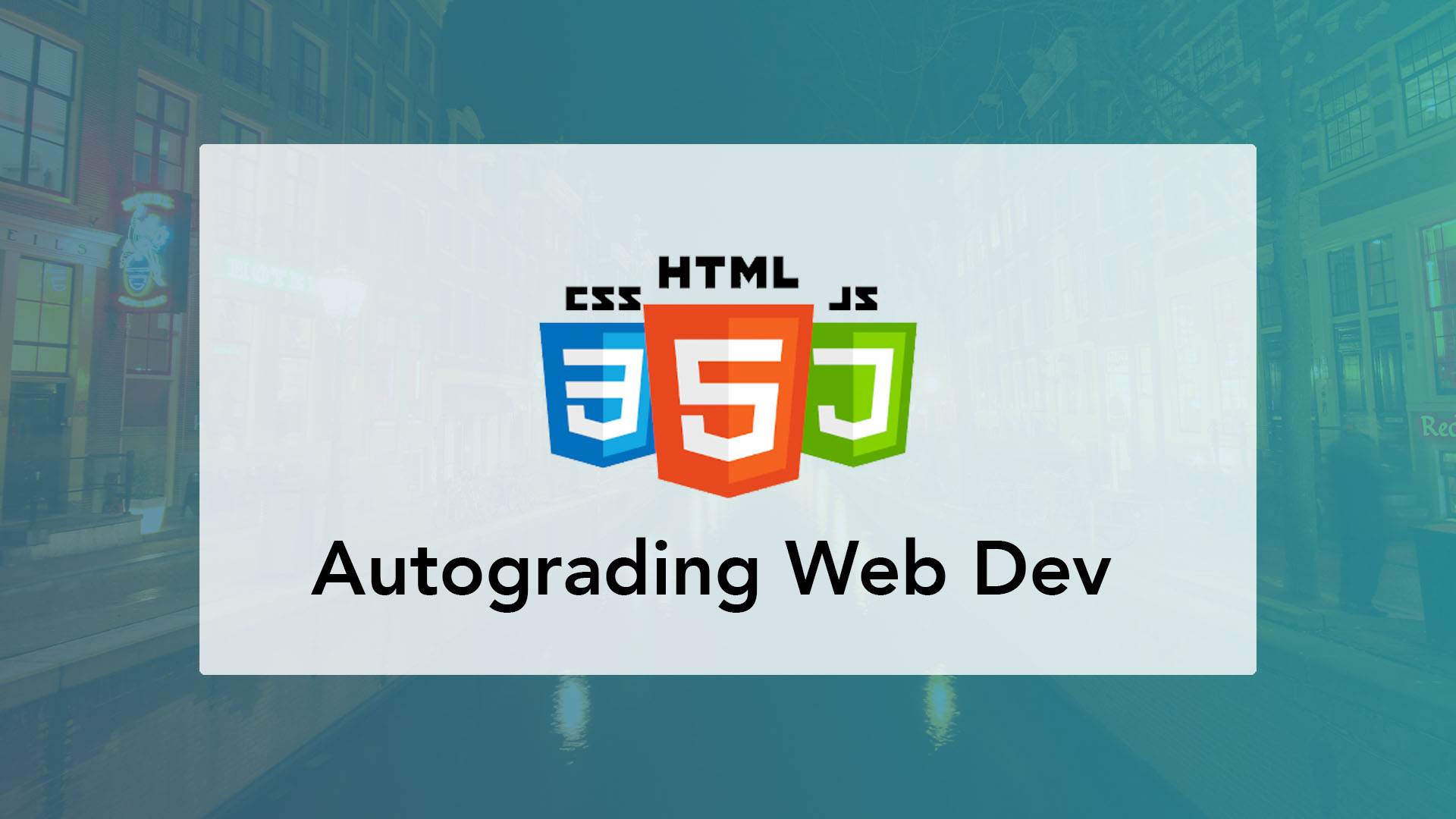 Autograding HTML, CSS and JS websites using CodeGrade