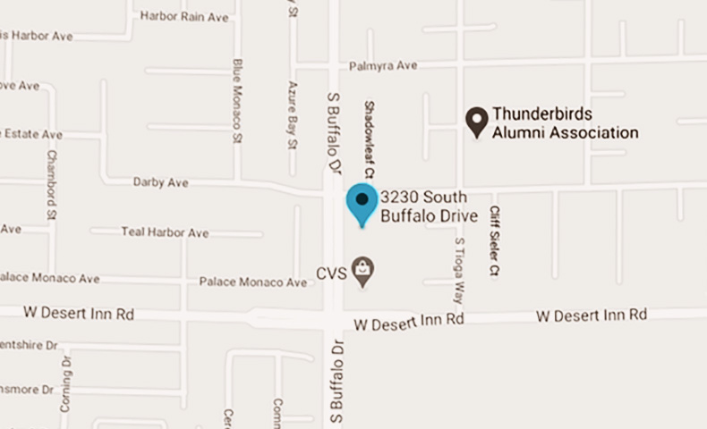 Map showing office location on S Buffalo Drive