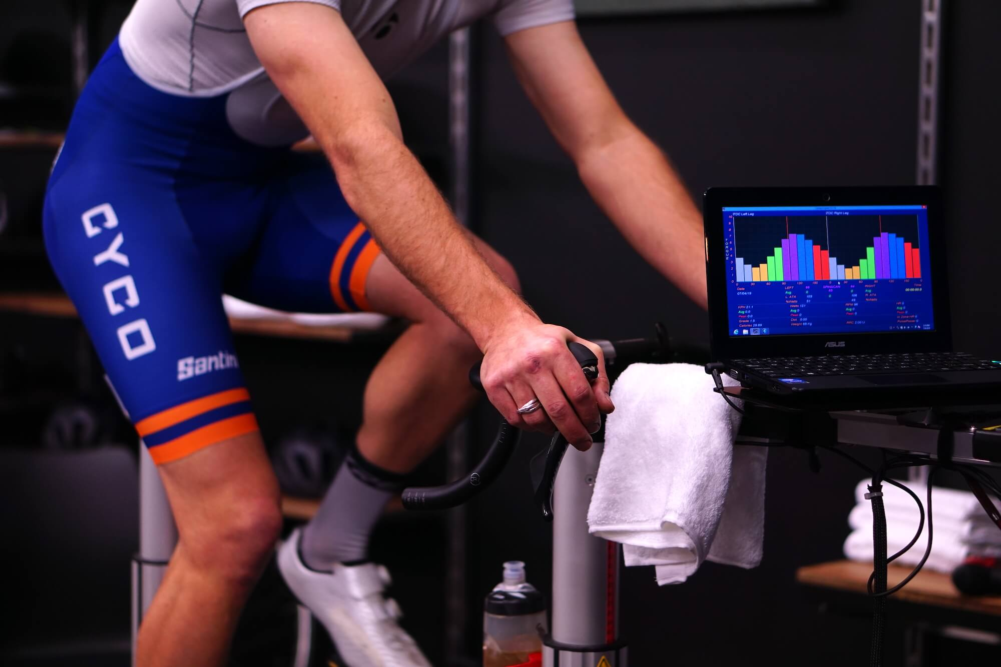 Man getting a bike fit at CYCO bike fit Auckland