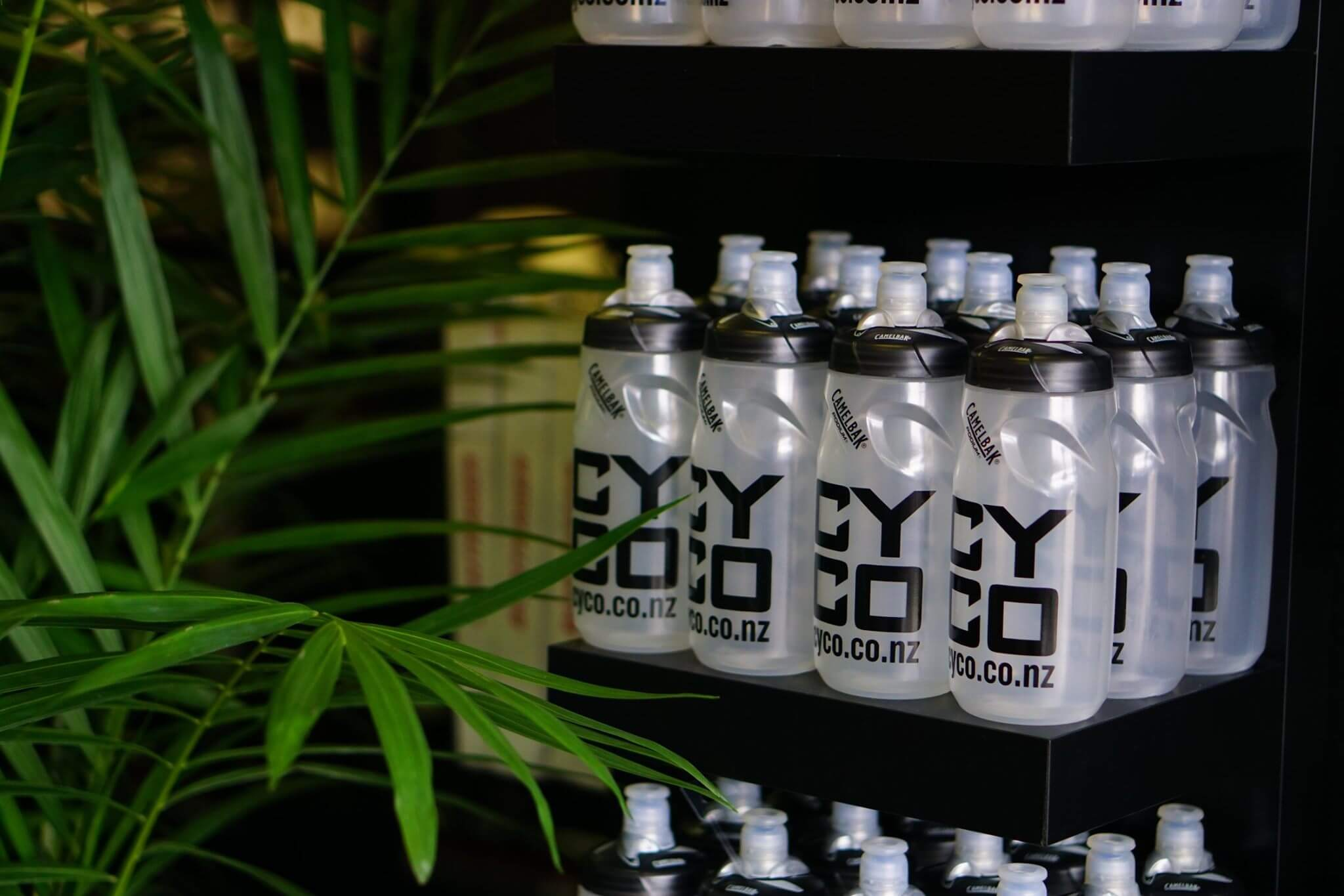 Cycling drink bottles branded CYCO
