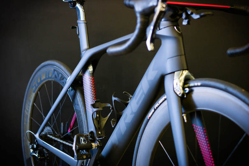 Trek Madone 9.5 getting bearing service at bike shop