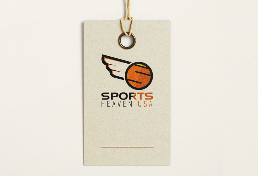 logo designer leicester - sports heaven sports equipment provider USA logo design uk