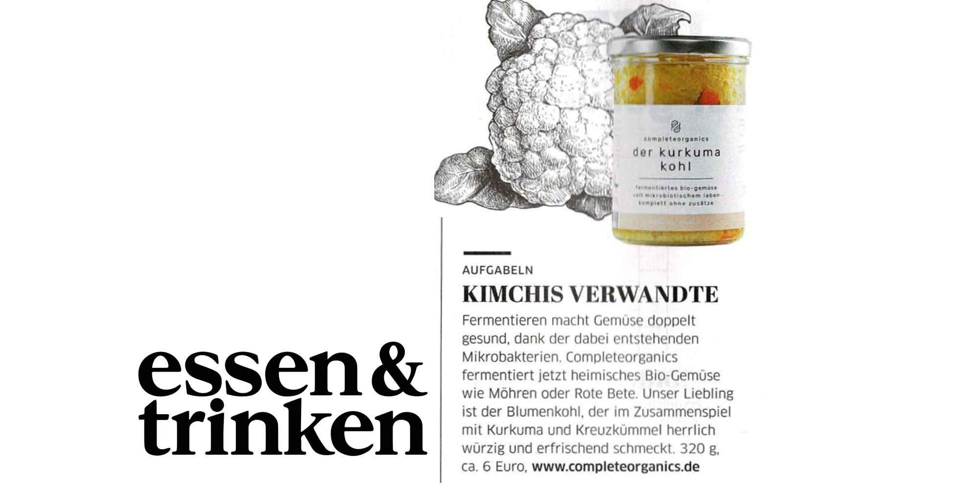Kimchi von Completeorganics im Magazin Essen&Trinken