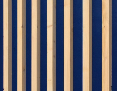 Finition extérieure - Bois brut peinte en bleu