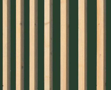 Finition extérieure - Bois brut peinte en vert