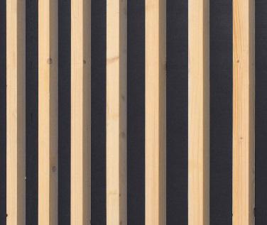 Finition extérieure - Bois brut peint en gris foncé