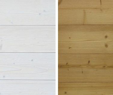 Finition intérieure - Bardage de bois blanchi ou thermo-traité