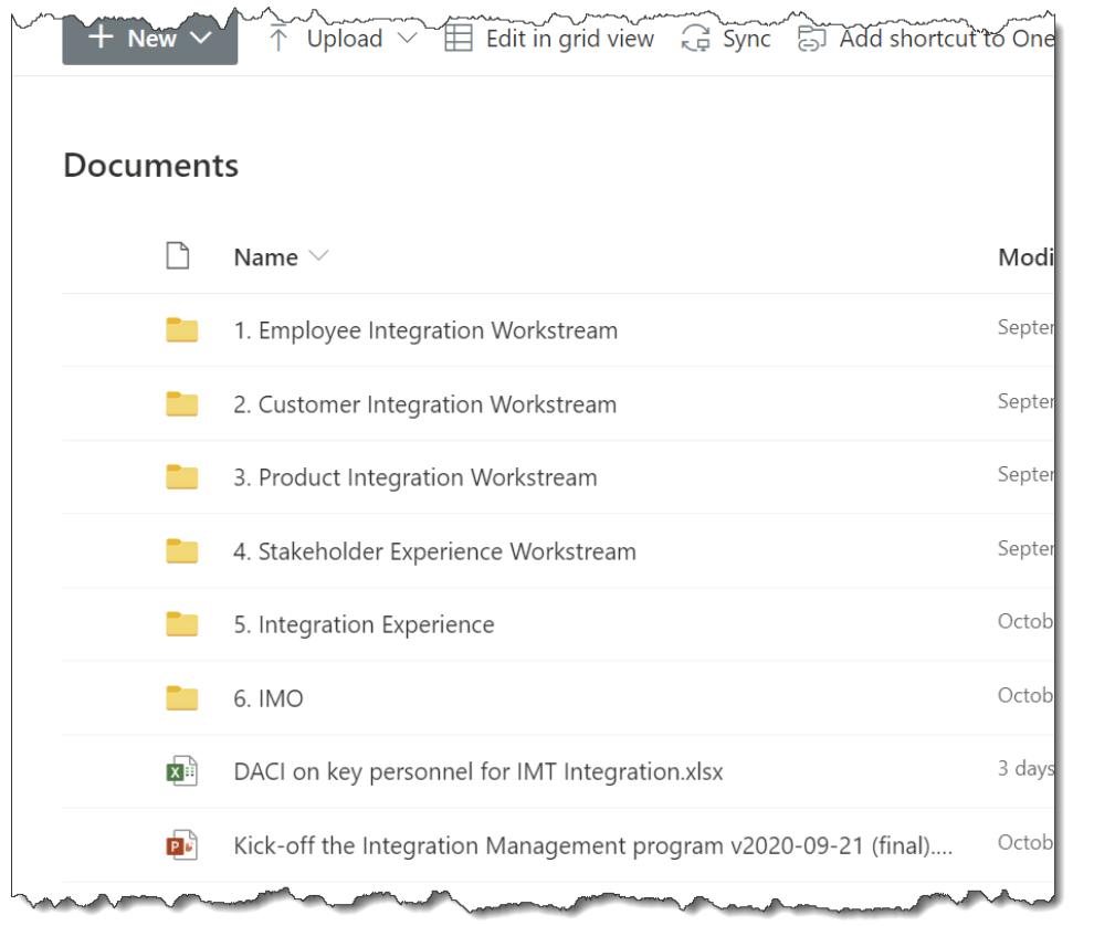folder hierarchy example