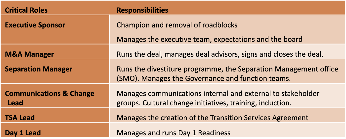 the Key Roles and Responsibilities to Stakeholders