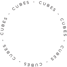 cubes visual media logo circle