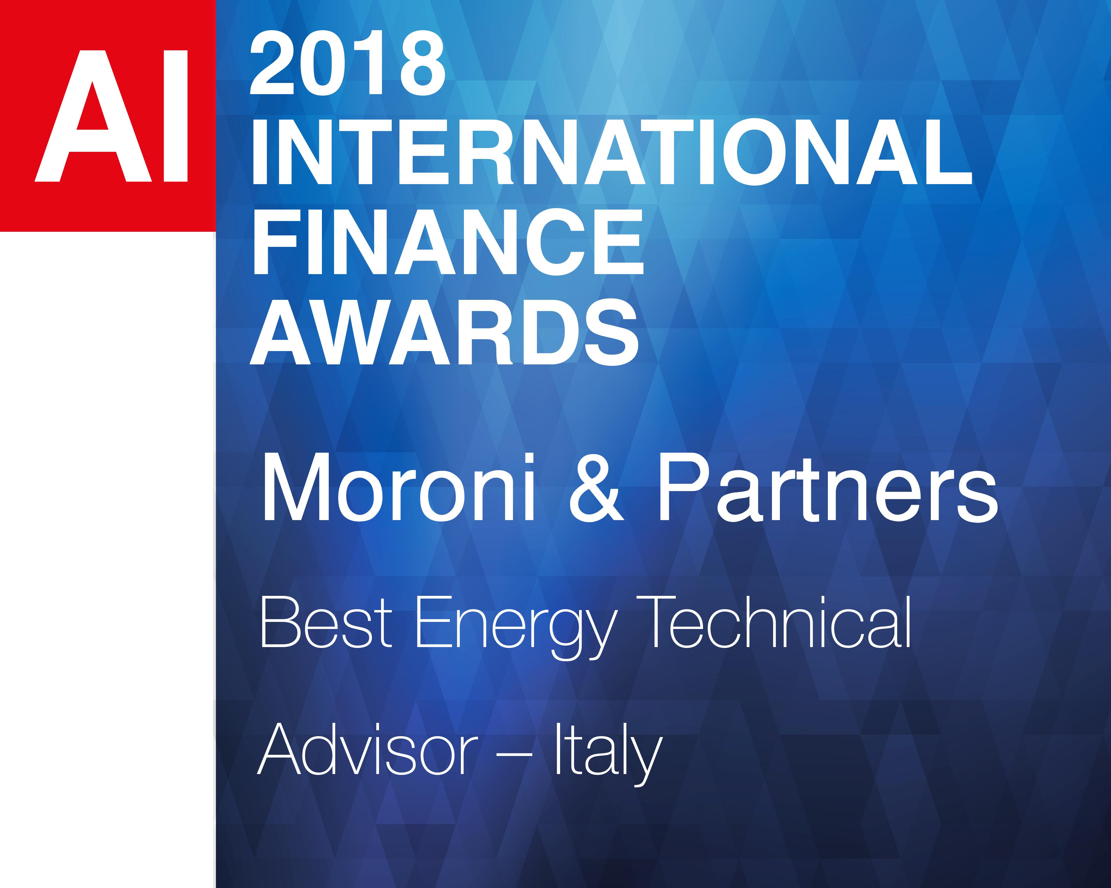 Moroni & Partners wins the international financial award 2018