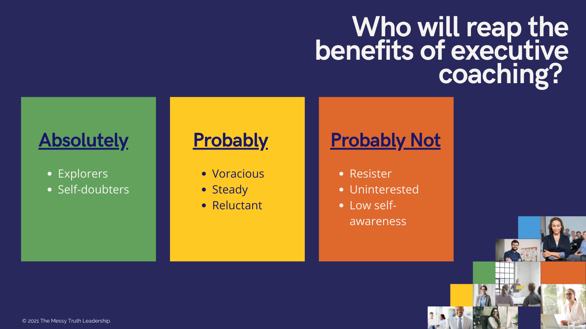 Who will benefit from executive coaching?