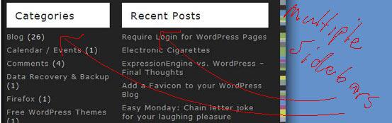 WordPress Multiple Sidebars
