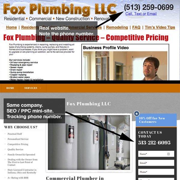 Example Local SEO / PPC Mini Site