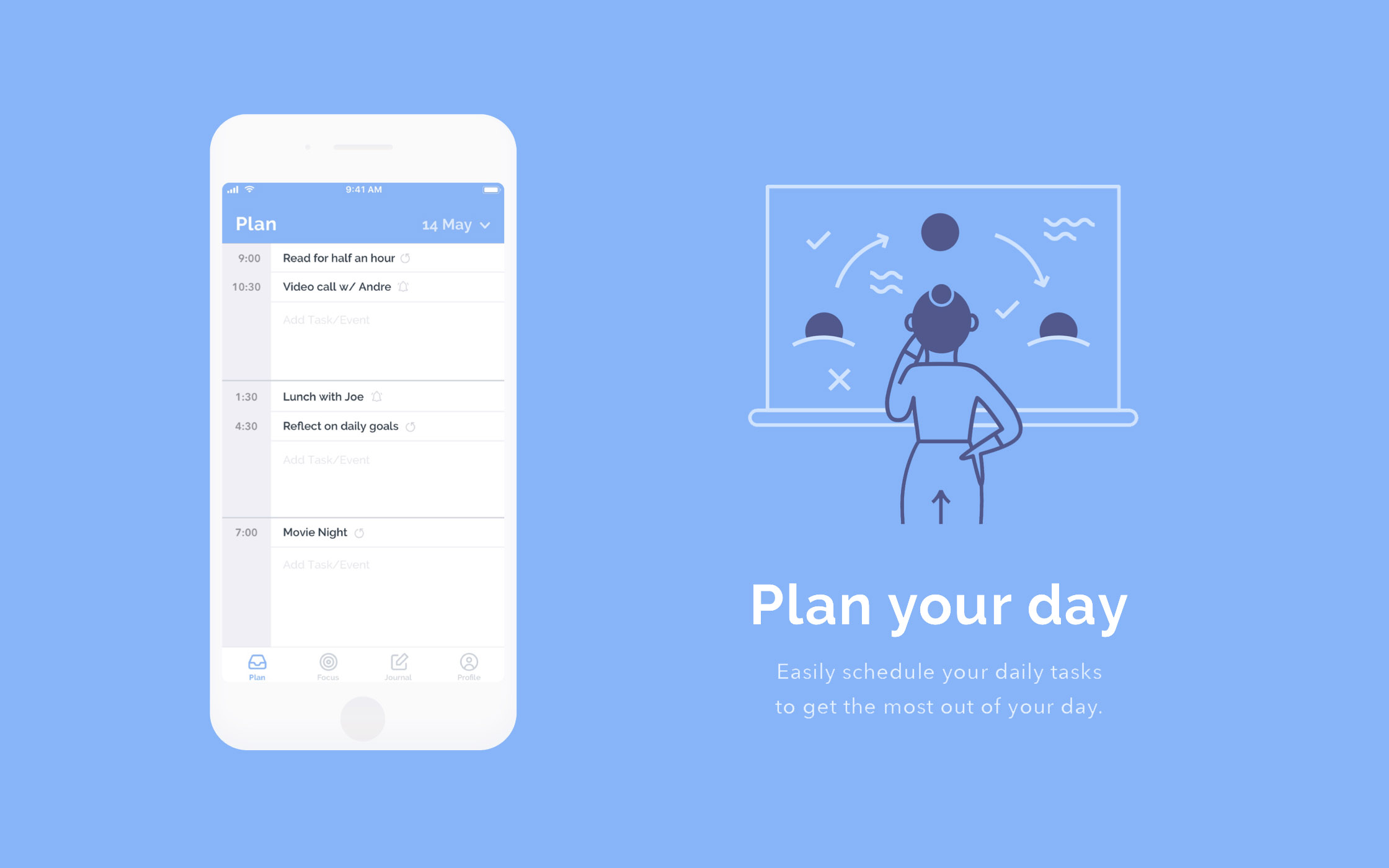 New Day App Concept Plan Screen