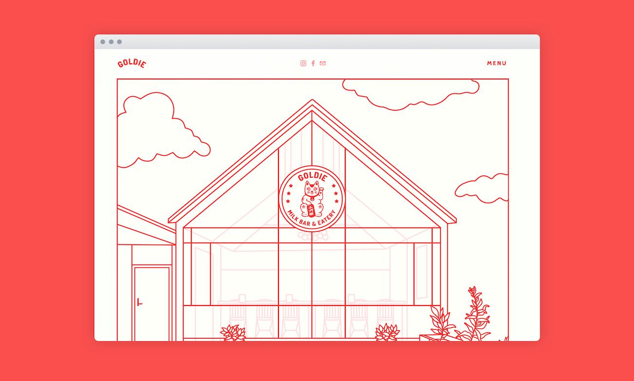 Goldie Website Landing Page