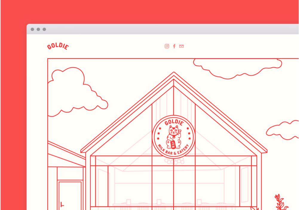 Goldie Landing Page
