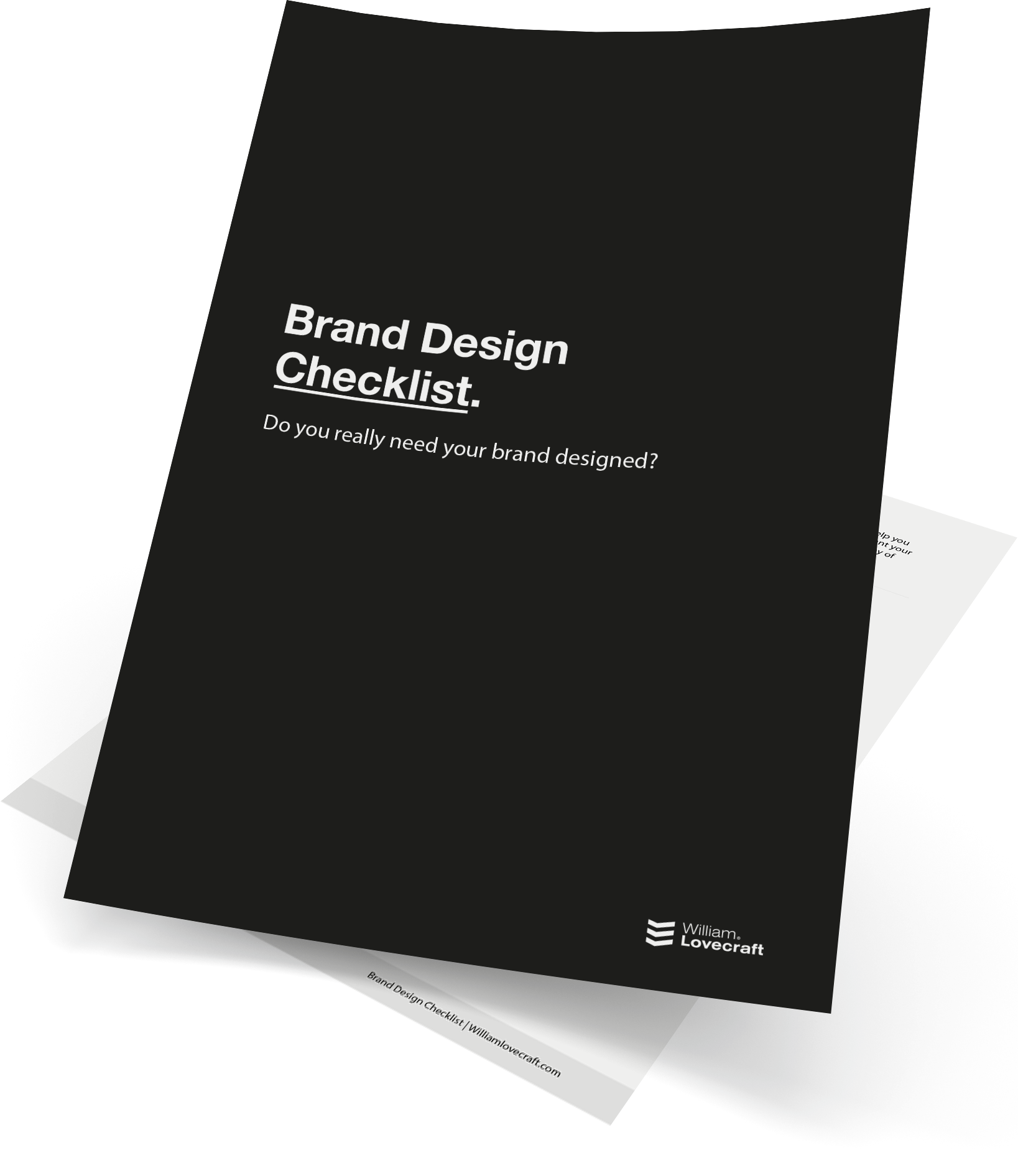 william lovecraft brand design branding checklist logo designer