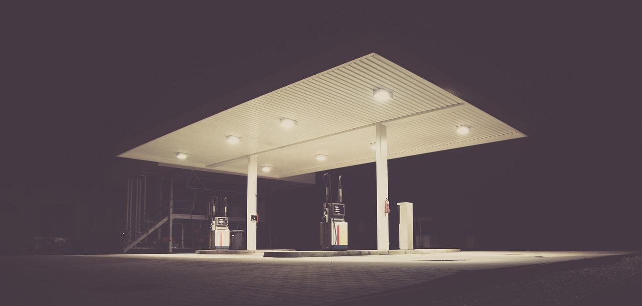 Late night Gas pumps