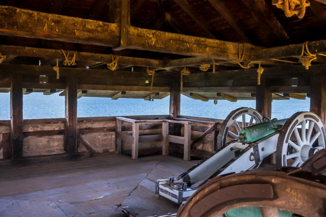 Image from inside a tower at Fort Niagara.