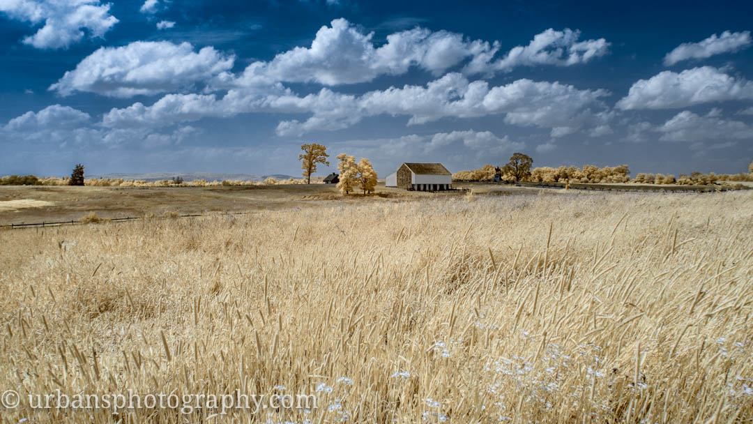 Infrared image of McPherson Ridge and Barn.