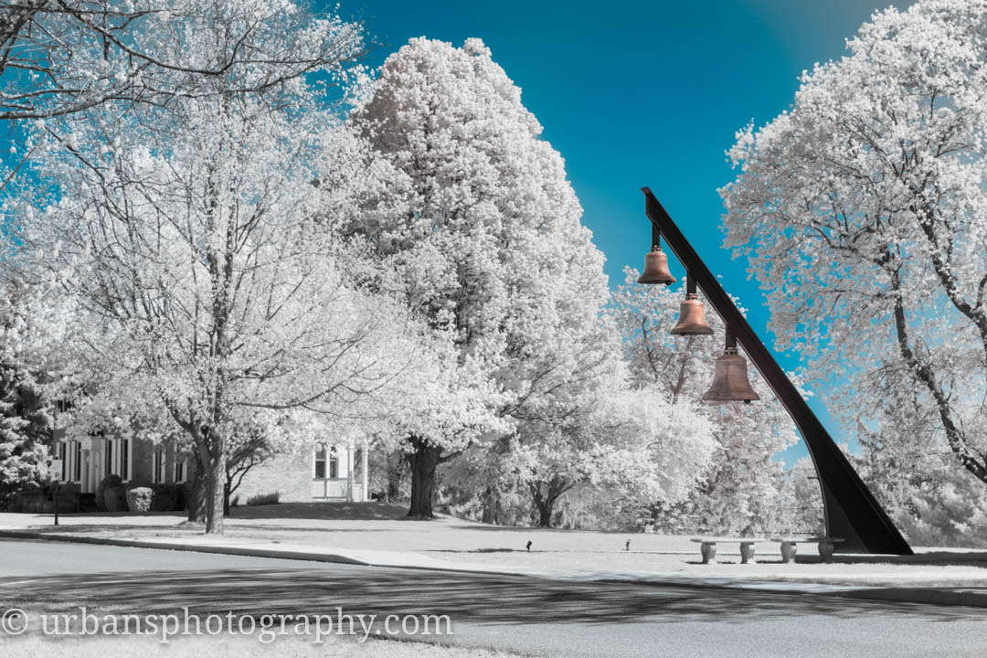 Infrared Image of the bells on the Seminary.