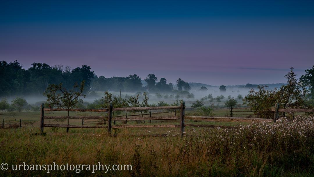 Dawn looking toward Big Round Top