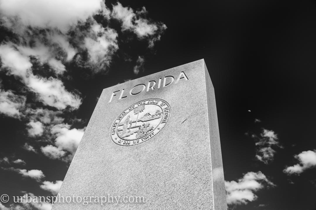 Florida State Monument at Gettysburg National Military Park in Infrared.