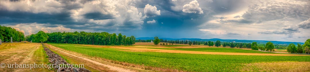 A summer storm blowing over the Eisenhower farm in Gettysburg.