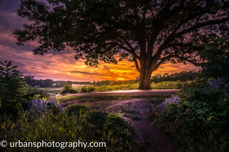 Fairytale sunset at Devils Den in Gettysburg