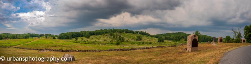 Little Round Top from Houck's Ridge in Gettysburg National Military Park
