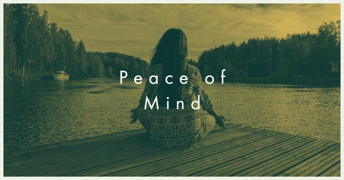 Peace of mind, a lady sitting on a dock meditating