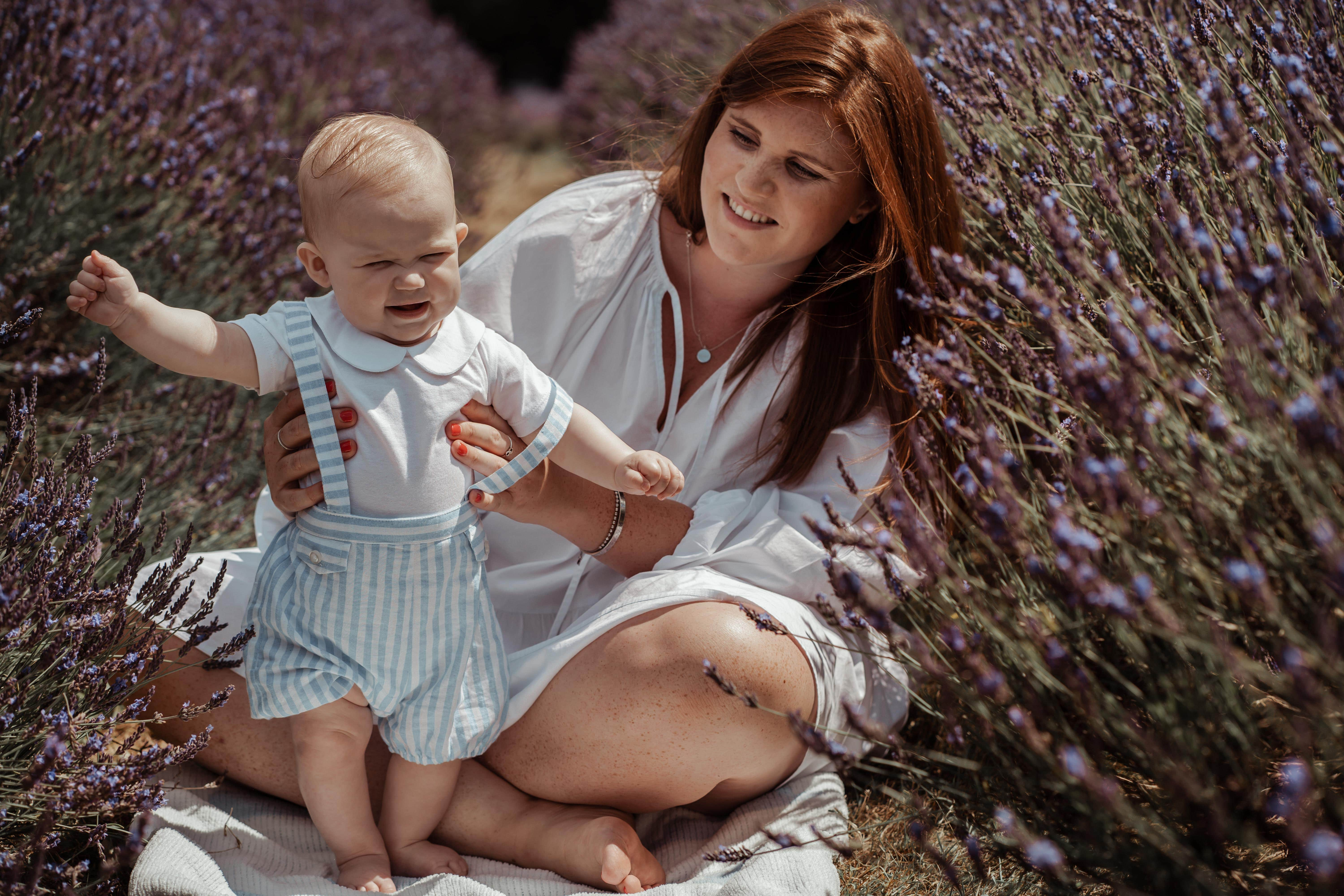 Family lavender field photography