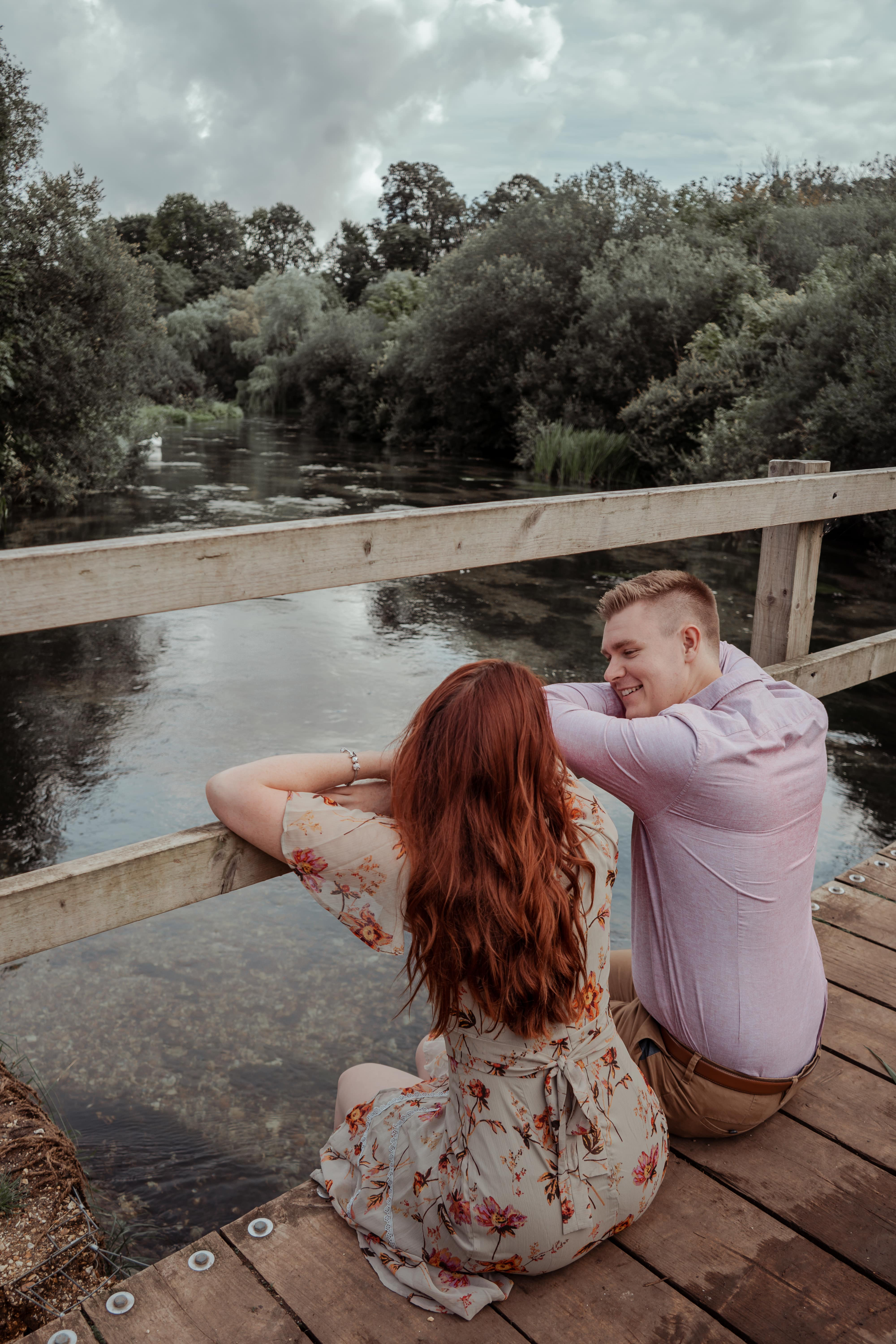 Bridge engagement shoot Hampshire