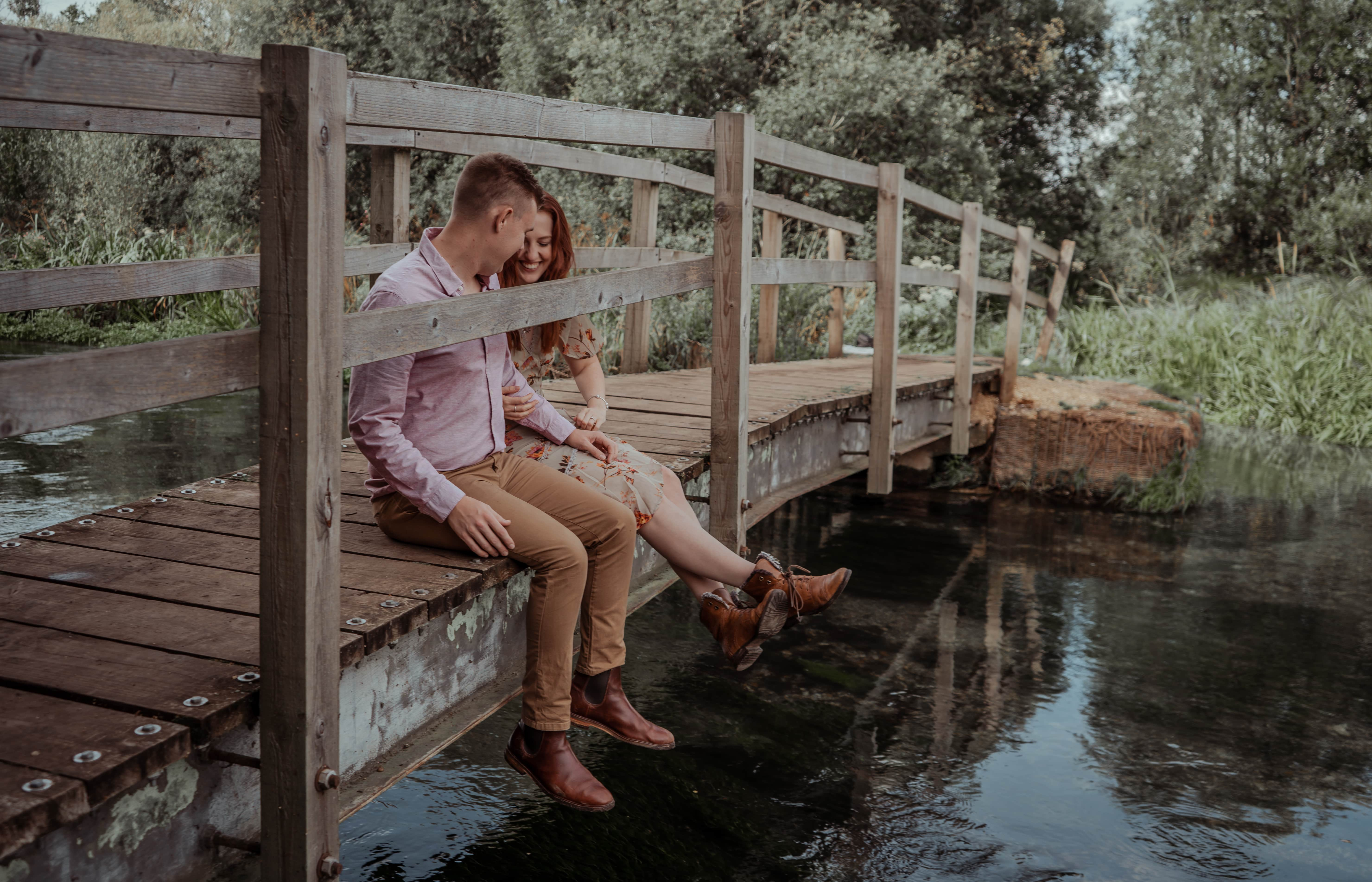 Lakeside engagement Ovington Hampshire