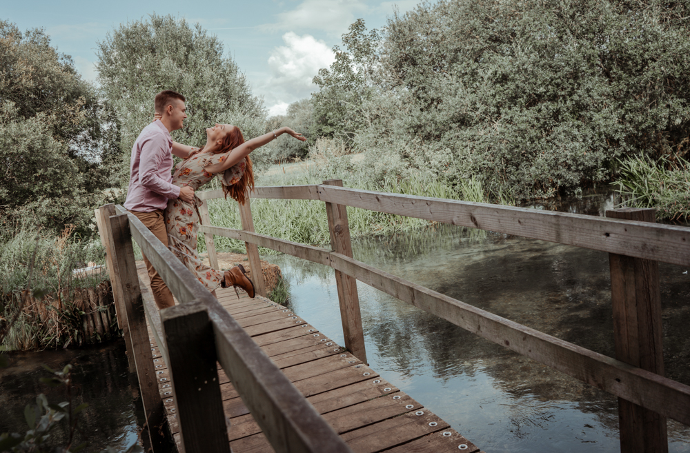 Ovington Hampshire Lakeside Engagement photography