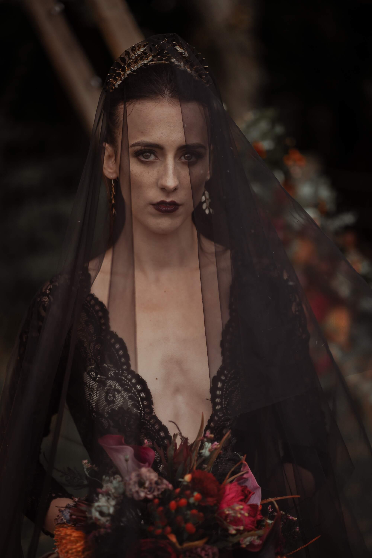 Halloween gothic bride